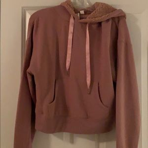Others Follow Fleece-lined hoodie in mauve size S